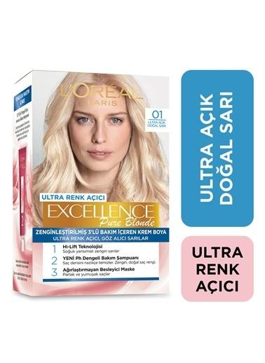 L'Oréal Paris L'Oréal Paris Excellence Creme Saç Boyası - 01 Ultra Açık Doğal Sarı + Turunculaşma karşıtı Şampuan 200 Ml Renksiz